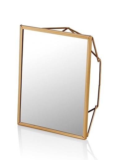 The Mia Brass Ayna 22 x 17 Cm Renksiz